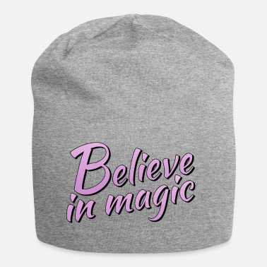 Lilac Believe in magic logo in lilac - Jersey Beanie