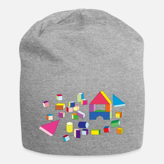 Play Caps & Hats - Building blocks - Beanie heather grey