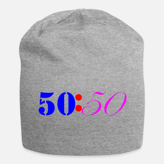 British Caps & Hats - Fifty Fifty Colours - Beanie heather grey
