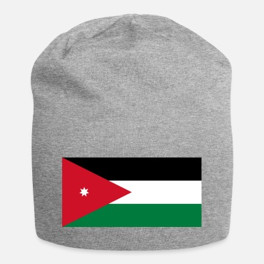 Amman National Flag Of Jordan - Jersey Beanie