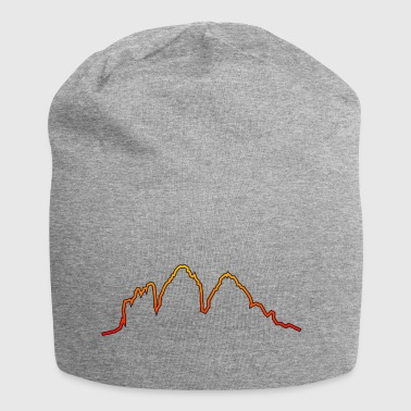 Dolomites Three peaks evening red glow - Jersey Beanie