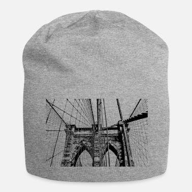 Brooklyn Bridge Brooklyn Bridge New York Rasterafbeelding - Jersey-Beanie