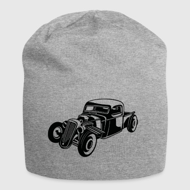Hot Rod / Rat Rod 08_weiß - Jersey-Beanie