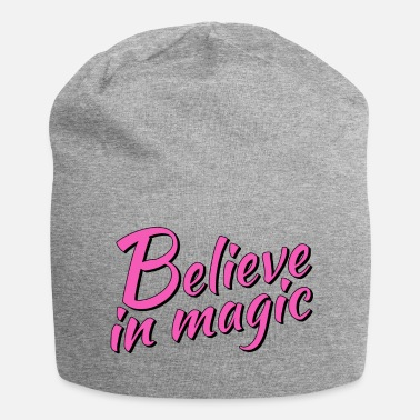 Magisch Believe in magic Logo in pink - Jersey-Beanie