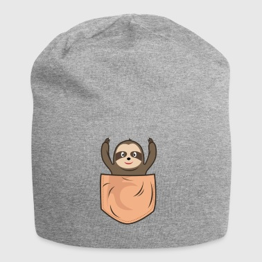 Sloth lomme lomme - Jersey-beanie