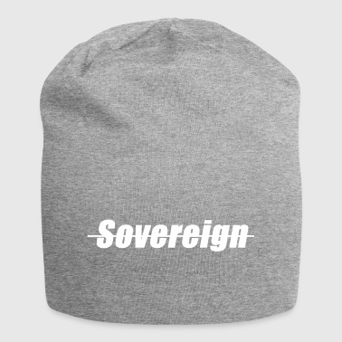 Sovereign Dashed Blanca - Gorro holgado de tela de jersey