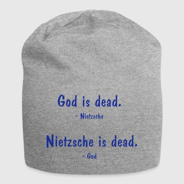 Nietzsche and God - both dead? Philosophy saying - Jersey Beanie