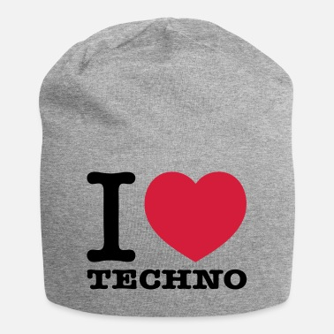 I Love Techno I love techno music - Jersey Beanie