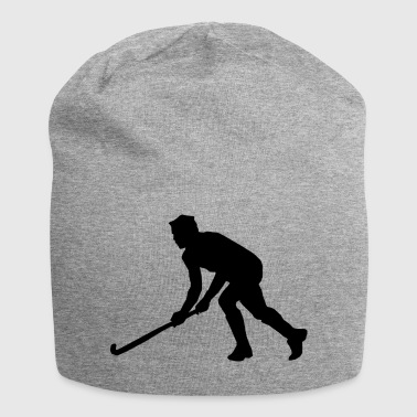 Field Hockey Hockey field hockey silhouette - Jersey Beanie