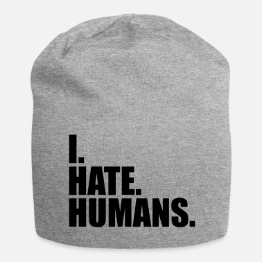 Hate cool logo humans text sticker fuck you fuck off - Beanie
