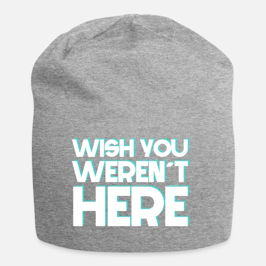 Here Caps & Hats - I wish you were not here - Beanie heather grey