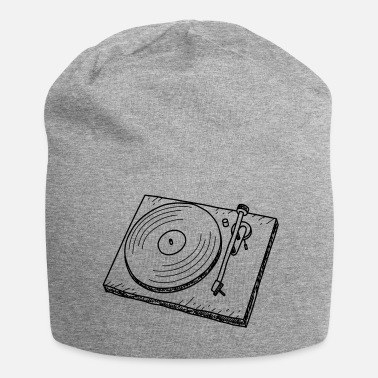 Turntable Turntable - DJ - Retro - Musica - Beanie in jersey
