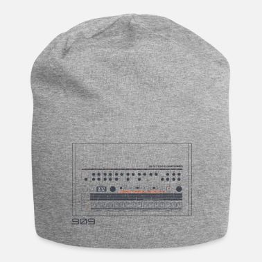 Machine Analoge Vintage Drum Machine - Retro 909 Nerd - Jersey-Beanie