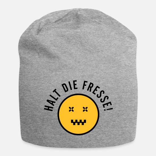 Gift Idea Caps & Hats - zip your lips! - Beanie heather grey