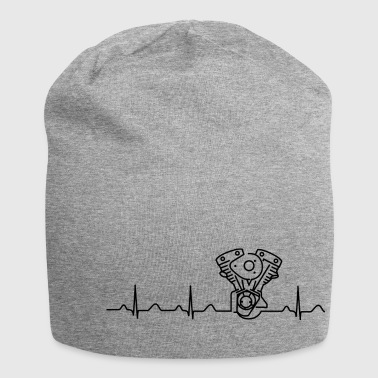 Late Shovel Heartbeat black - Jersey Beanie