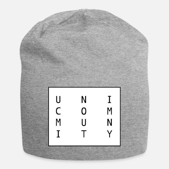 Unisex Caps & Hats - uni logo - Beanie heather grey