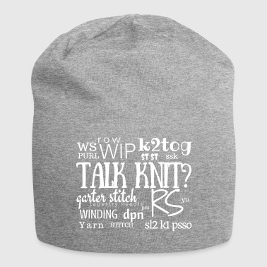 Talk Knit?, white - Jersey-pipo
