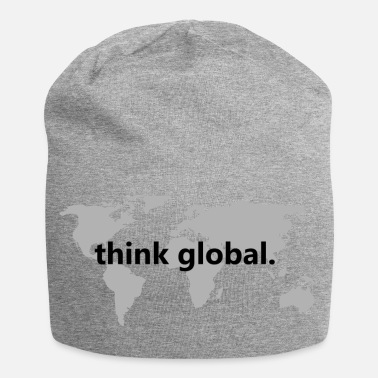 Global penser global - Bonnet en jersey