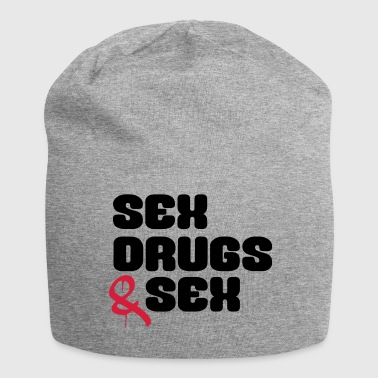 Sex Drugs & Sex Lustiger Spruch - Jersey-Beanie