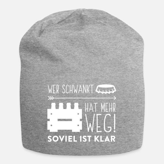 Alcohol Caps & Hats - Who Sways Back And Forth Has More Way - Beanie heather grey