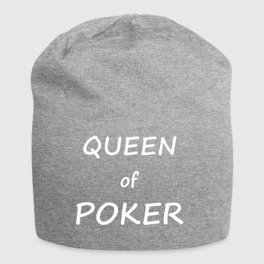 Queen of Poker - Cool Poker T-shirt design - Jersey Beanie