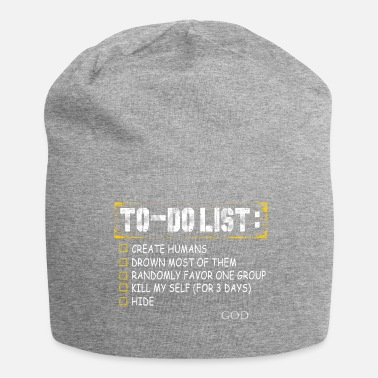 Skeptic To-Do List God - Jersey Beanie