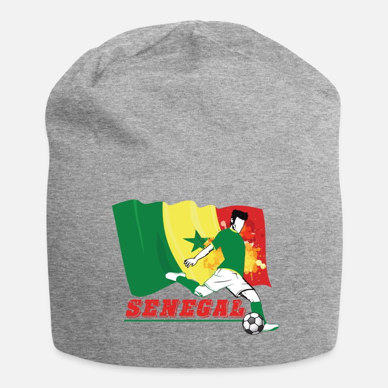 Sports Casquettes et bonnets - Coupe du Monde de Fan de Football du Sénégal - Beanie gris chiné