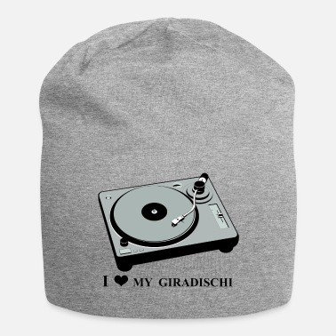 Turntable I love my giradischi , I love my turntable . - Beanie in jersey