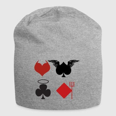 Poker Black Jack Ass Devil Devil Ange Carte Casino - Bonnet en jersey