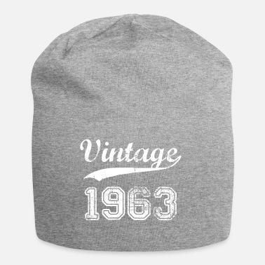 1963 Vintage 1963 birthday years gift t-shirt - Jersey Beanie