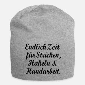 Sticken Häkeln Handarbeit Hobby Wolle Nähen Beanie Spreadshirt