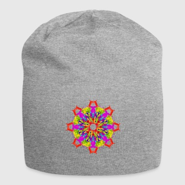 colour splash mandala - Jersey Beanie