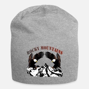 Rocky Mountains Rocky Mountains with eagles - Jersey Beanie
