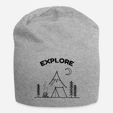 Enviromental EXPLORE NATURE FREEDOM - Jersey Beanie