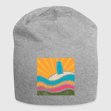 Surfboard in the sand - Jersey Beanie