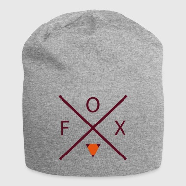 Fox with cross - Jersey Beanie