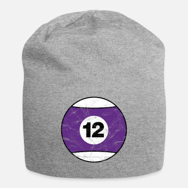 Twelve Billiard billiard ball purple twelve twelve vintage - Jersey Beanie