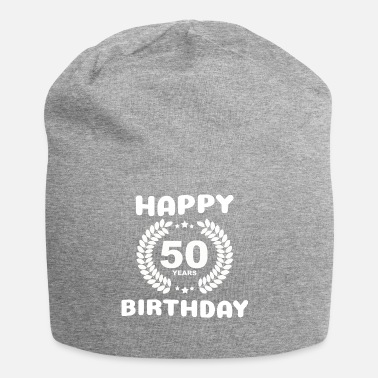 50th Birthday Happy Birthday: 50 years - Beanie