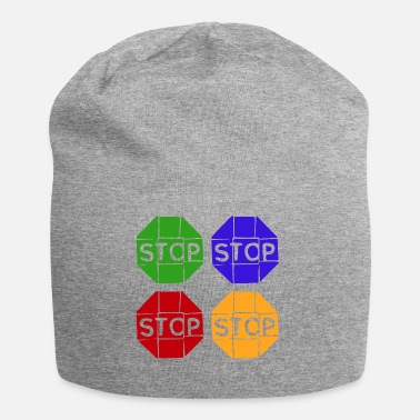 Graphic Art Pop Art / Graphic Novel: STOP - Jersey-Beanie