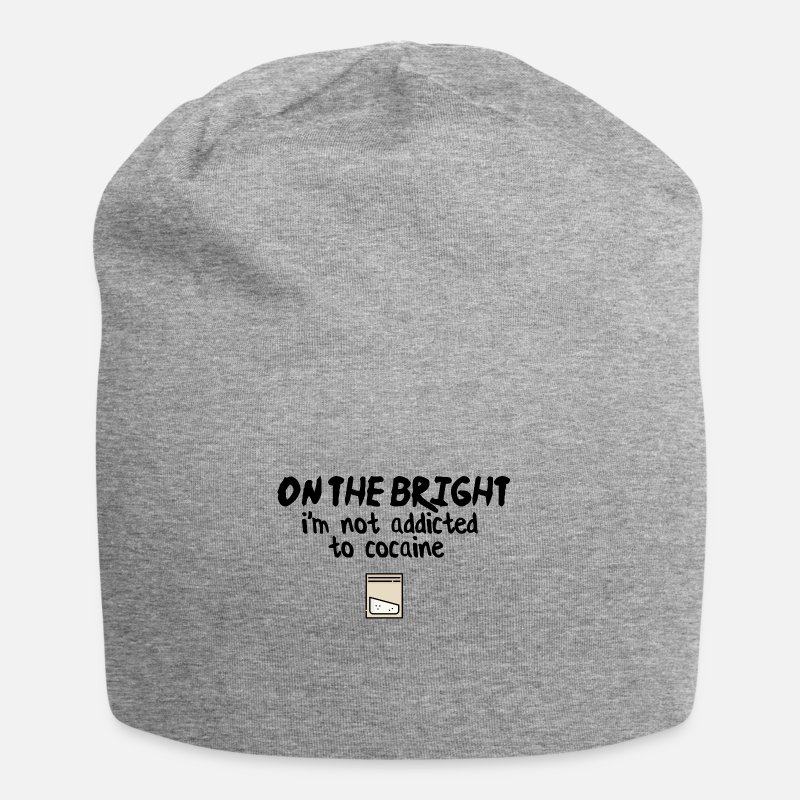 Cocaine Caps & Hats - On the bright side - Beanie heather grey