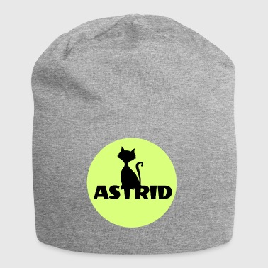 Astrid name cat full moon name day - Jersey Beanie