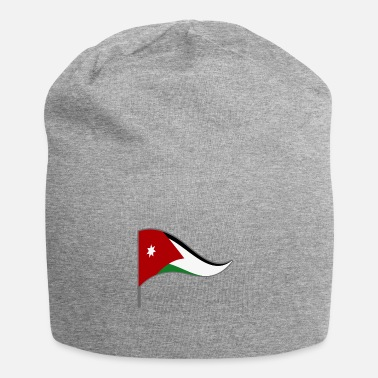 Amman Jordan Amman Arab flag flag national colors - Jersey Beanie