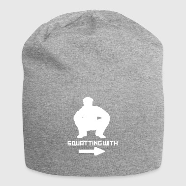 SQUATTING WITH - Jersey Beanie