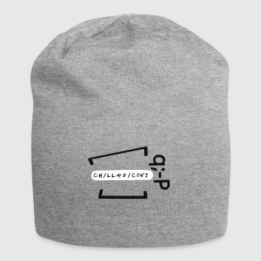 Chillaxicon text with text! q -P - Jersey Beanie