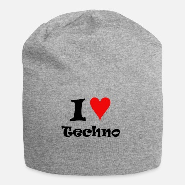 I Love Techno I Love Techno - Beanie in jersey