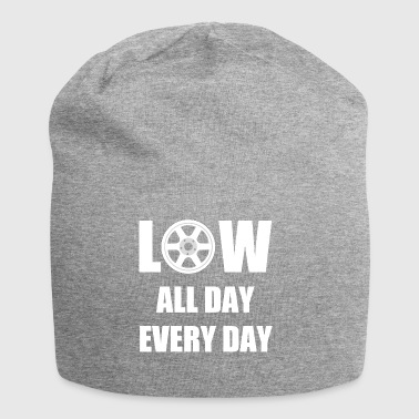LOW ALL DAY TUNING Geschenkidee Motiv Design Style - Bonnet en jersey