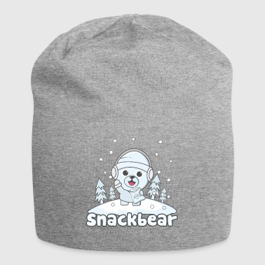 Snack Snack bear / snack bear in the snow - Jersey Beanie