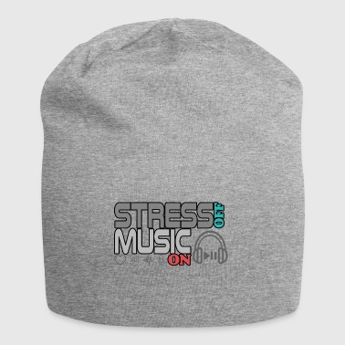 Turn off stress - turn on music - Jersey Beanie