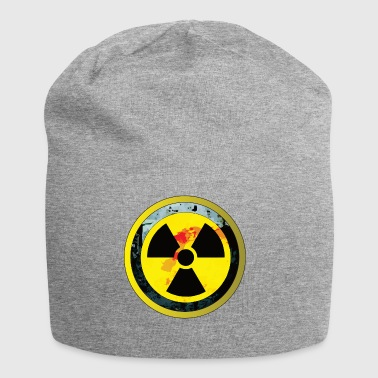Caution Radioactive atom Radiation carries danger - Jersey Beanie