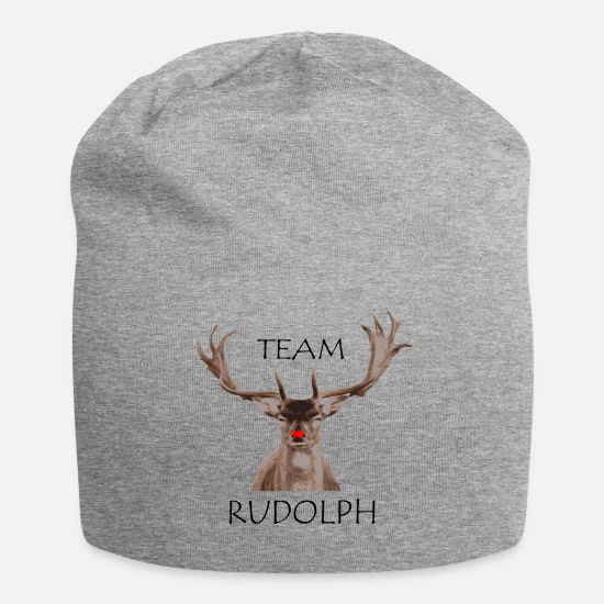 Christmas Caps & Hats - Team Rudolph - Beanie heather grey
